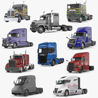 3D semi trucks
