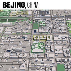 3D city maps model