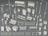 Street Elements - Part - 3 - 39 pieces