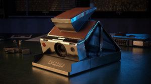 3D model polaroid camera sx-70