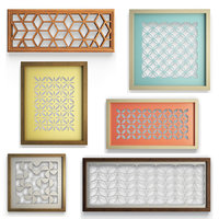 3D mural decorations frames openwork model