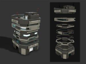 3D building scifi modular