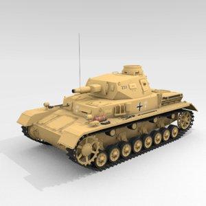 panzer iv ausf d 3D