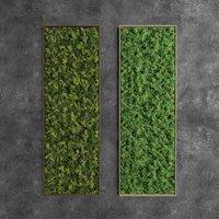 Decorative Rectangular Green Moss