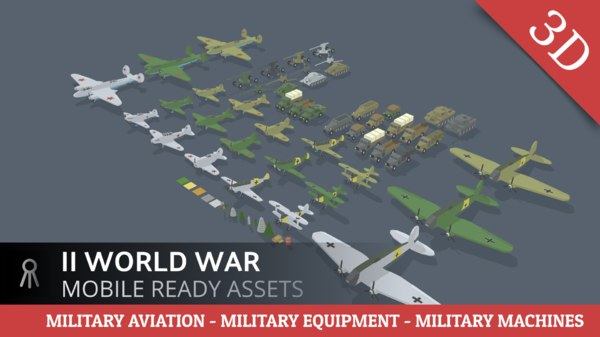 world war 3D model