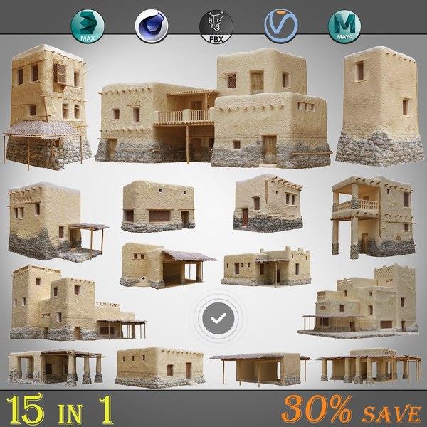 3D 15 1 old arabic model