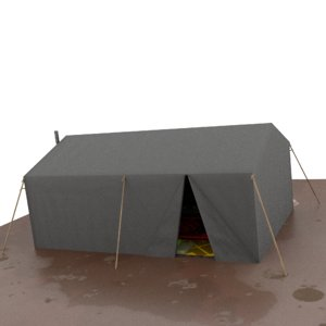 tent syria 3D model