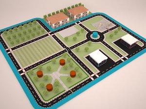 traffic training way 3D model