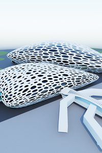 3D structure city building