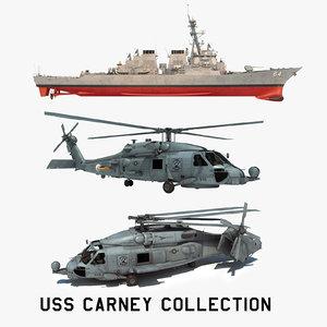 3D 2 uss carney ddg model