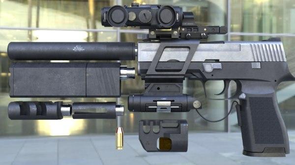 sights sig sauer p250 3D model