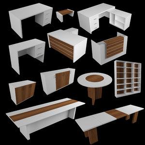 3D office furniture