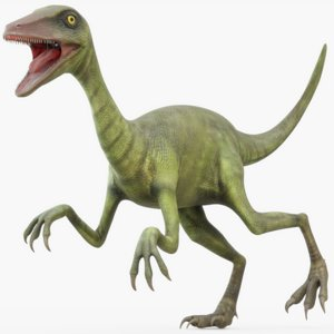 3D rigged troodon