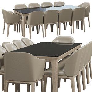 busnelli manda chair table 3D