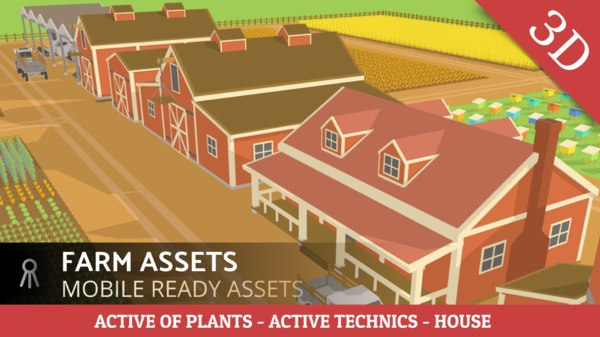 farm assets combine 3D