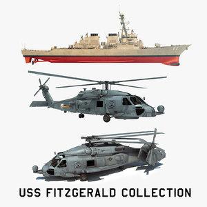 3D 2 uss fitzgerald ddg model