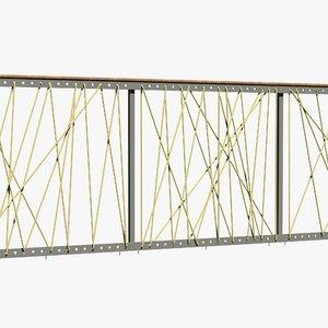 3D railing ropes model