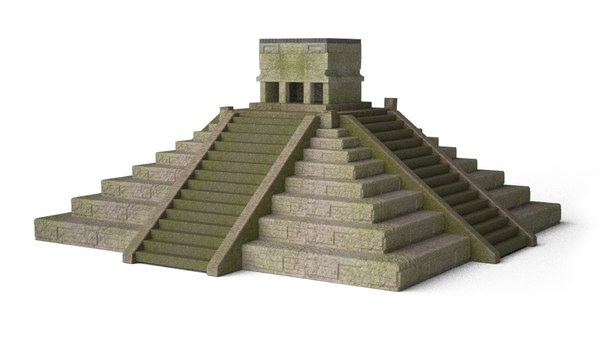 3D mayan pyramid jungle