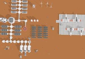 3D martian station starship model