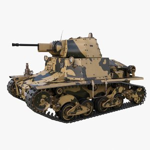 3D tank l6 40 camouflage model