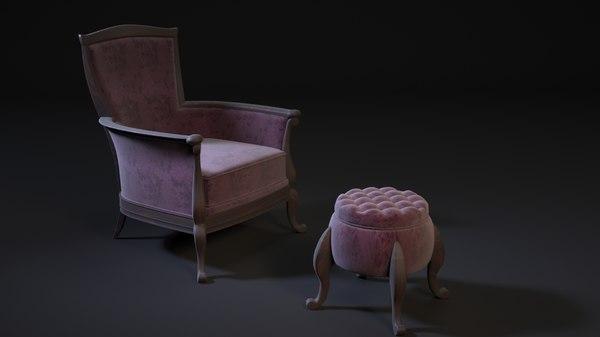 3D pouf chair