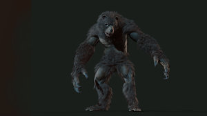 character werebear 3D