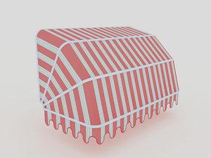 design basket awning 3D model
