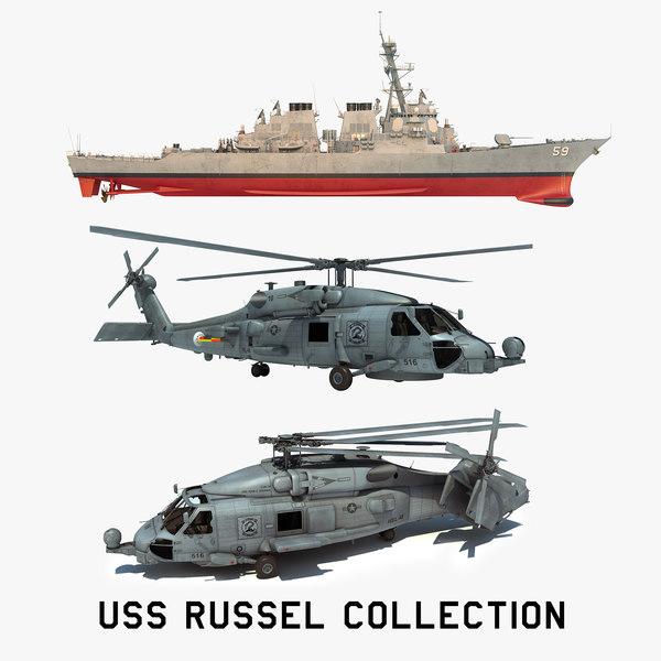 2 uss russel ddg model