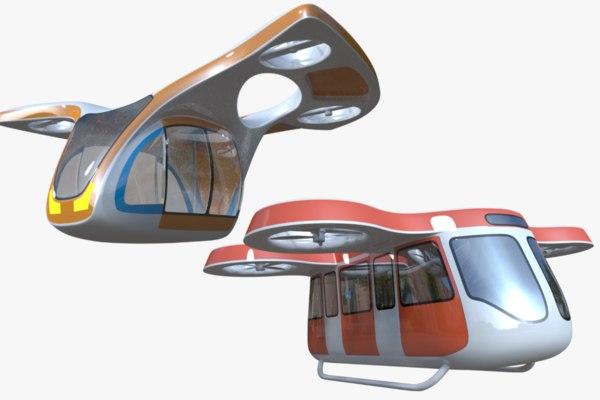 fictional passenger drones 3D model