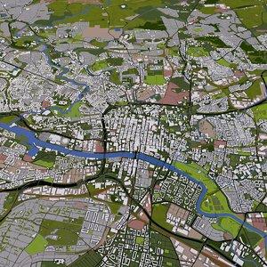 glasgow city 3D