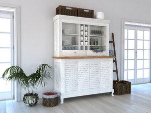 3D set rustical shelf