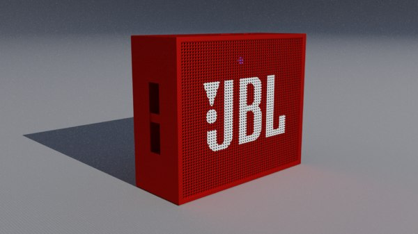 3D jbl bluetooth speaker model