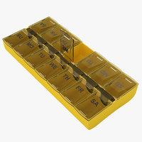 3D pill organizer