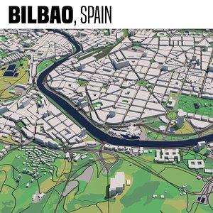 3D model city bilbao