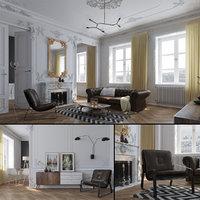 Paris Mid-Century Livingroom