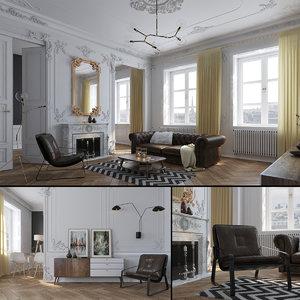 century livingroom 3D model
