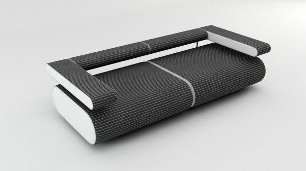 sofa alice fabric 3D