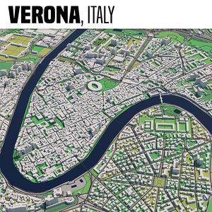 3D city verona model