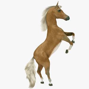 3D model realistic horse fur