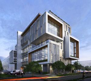 office building exterior 3d model