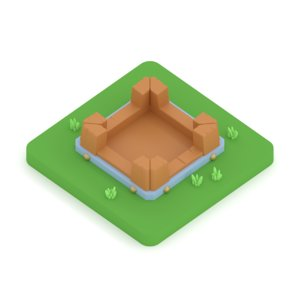 clash clans gold storage 3D model