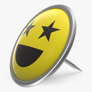 smiley push pin 3D model