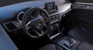 mercedes interior 3D model