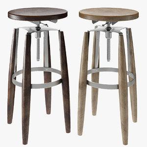 stool cosmorelax rocket 3D
