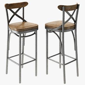 stool chair modern 3D