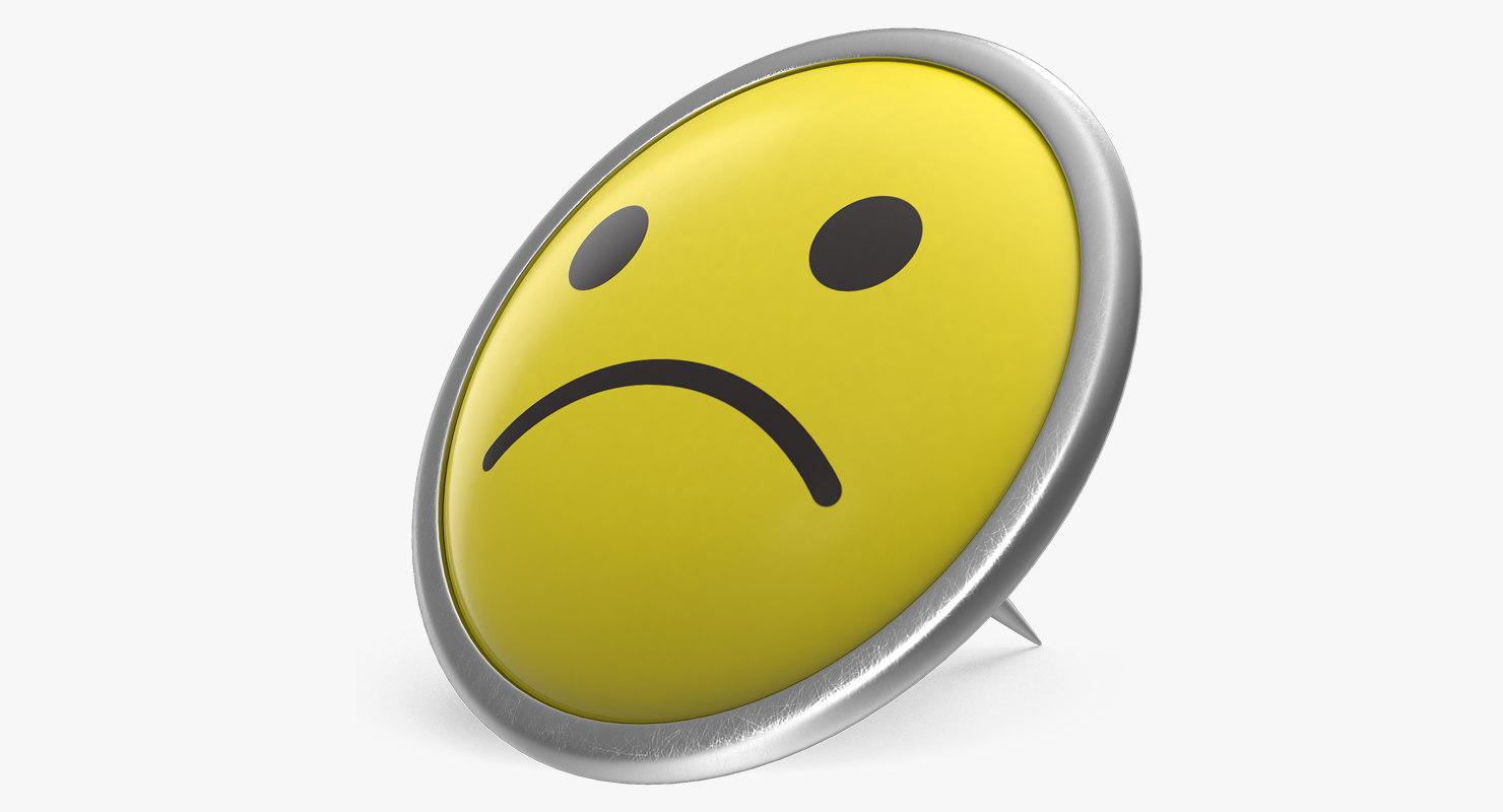 Sad Smiley Pin