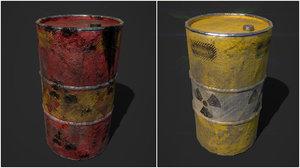 oil barrel radiation model