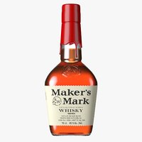 Maker's Mark Bourbon Whisky Bottle