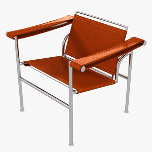 minimalist le corbusier lc1 chair 3D model