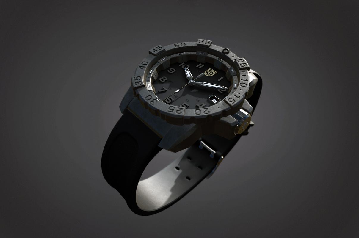 3D watch luminox navy seal model